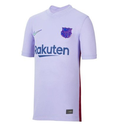 MAILLOT FC BARCELONE JUNIOR EXTERIEUR 2021/22 face