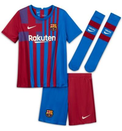 KIT ENFANT FC BARCELONE DOMICILE 2021/22 face