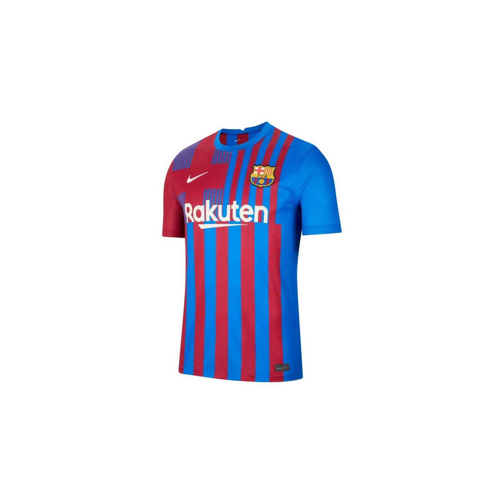 MAILLOT FC BARCELONE JUNIOR DOMICILE 2021/22 face