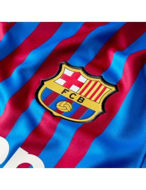 MAILLOT FC BARCELONE JUNIOR DOMICILE 2021/22 zoom logo