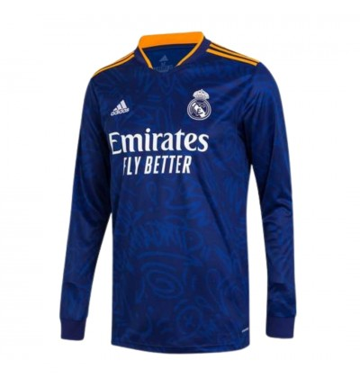 MAILLOT REAL MADRID EXTERIEUR ML 2021/22 face