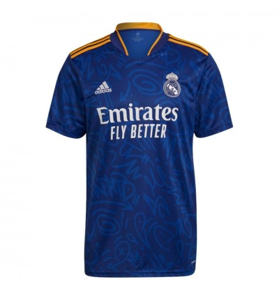 MAILLOT REAL MADRID JUNIOR EXTERIEUR 2021/22 face