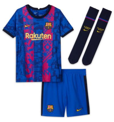 KIT ENFANT FC BARCELONE EUROPE 2021/22 face