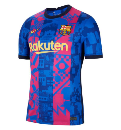 MAILLOT FC BARCELONE EUROPE AUTHENTIQUE 2021/22 face